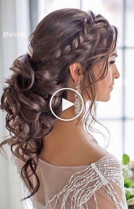 Bruiloft Kapsels Updo Curly Braids 53 Trendy Ideeen Coiffure Mariage Coiffure Mariee Idees De Coiffures