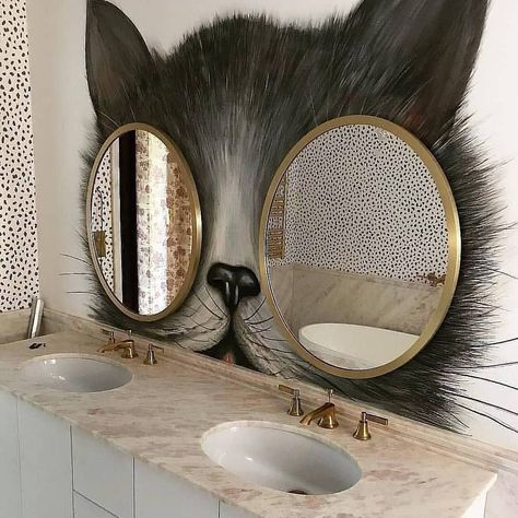 Love it or Not?  #catmirror #bathroomdecoration #bathroomdesign #catsofinstagram...-#bathroomdecoration #bathroomdesign #cat #catmirror #cats #catslover #catsofinstagram #mirrors