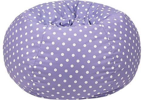 Shop for a Daleyza Lavender Polka Dot Bean Bag at Rooms To Go Kids. Find  that will look great in your home and complement the rest of your furniture.