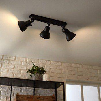 Rampe 3 Spots Industriel Mezzo 3 Xe14 Noir Inspire Leroy Merlin Plafonnier Salle De Bain Spot Salle De Bain Plafonnier