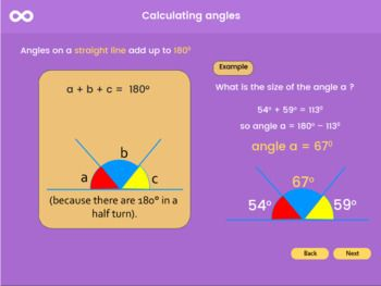 An Interactive Activeteach Key Stage 3 Lesson For Pupils In Year 7 9 On Calculating Angles In This Lesson Learner Ks3 Maths Worksheets Angles Math Activities