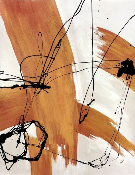 Abstract modern art featuring colored thick and thin line streaks on a neutral background. Adaptation Wall Art By: Joshua Schicker from Great Big Canvas Modern Art Paintings, Modern Abstract Art, Abstract Canvas Art, Modern Artwork, Indian Paintings, Abstract Oil, Modern Prints, Abstract Paintings, Oil Paintings