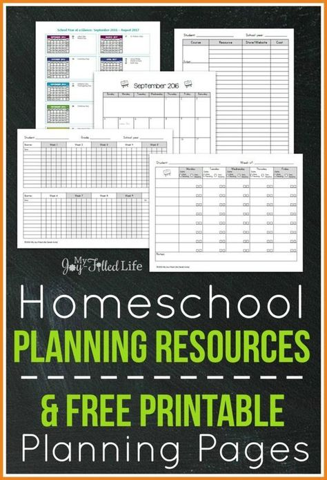 Top Homeschool Planning Resources & FREE Printable Planning Pages
