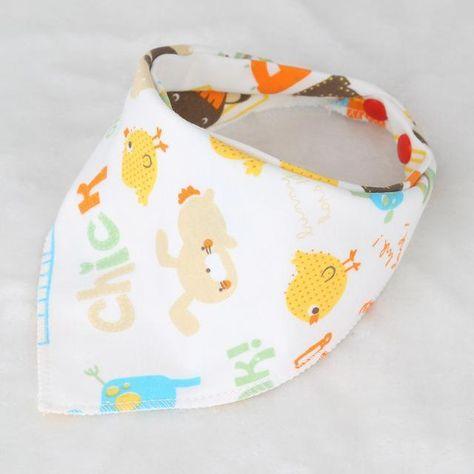 100/% Cotton Fiber Baby Bibs Double Layers New Burp Bib Kid Bandana ^^^^