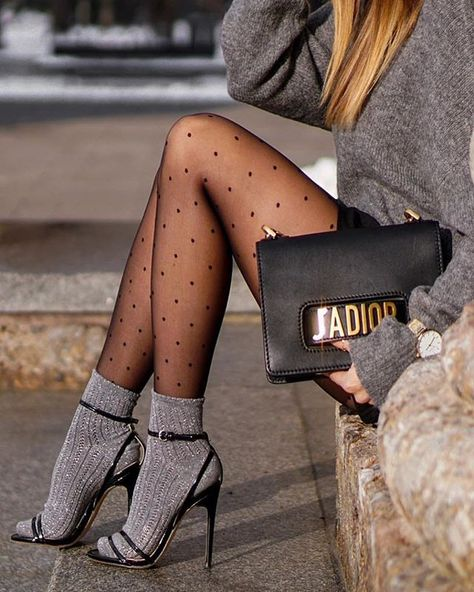 Be trendy with socks and heels – Best Skirt