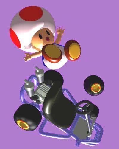 Toad Mario Kart 64 | Super Mario Bros | Mario kart 64, Mario