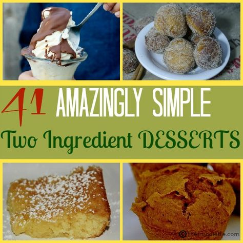The Ultimate List of 41 Amazingly Simple 2 Ingredient Desserts via thefrugalette.com #recipes #frugal