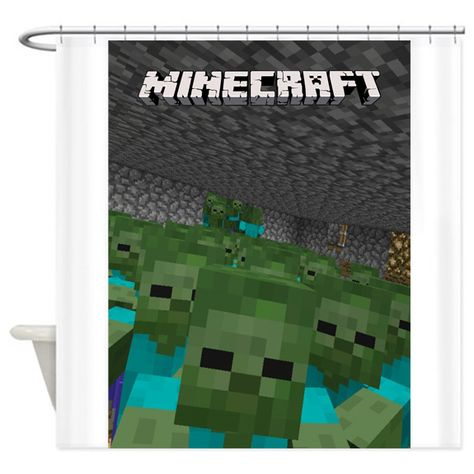 Game Style Minecraft Shower Curtain At Shower Curtain Curtains