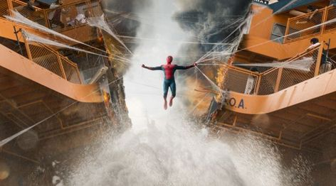 Spiderman Homecoming Boat Fight Scene Wallpaper, HD Movies 4K Wallpapers, Images, Photos and Background - Wallpapers Den