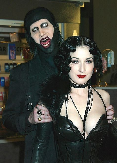 This is Marilyn Manson ! - gothlands: Marilyn Manson and Dita Von Teese She.