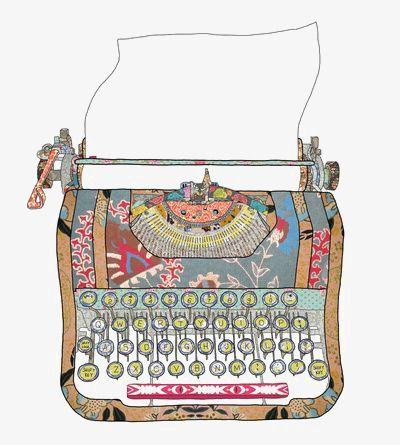 Typewriter Patchwork Agendas Personalizar