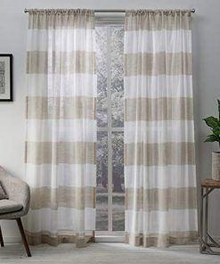 Farmhouse Drapes Rustic Drapes Linen Curtain Panels Sheer
