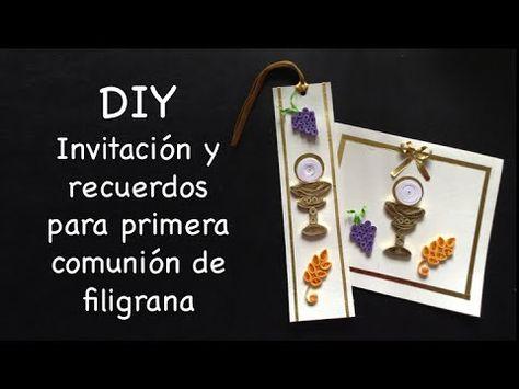 invitaciones de primera comunion en filigrana