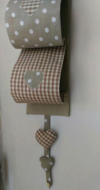 Porte Rouleau De Papier Toilette Fait Main Tissu De Coton Pur Applications Des Coeurs D Papier Toilette Rouleau Papier Toilette Atelier Couture Amenagement