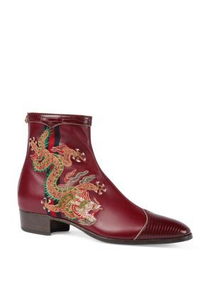77a9ec974d9cf GUCCI Plata Dragon Leather Boots. #gucci #shoes # | Gucci Men | Mens ...