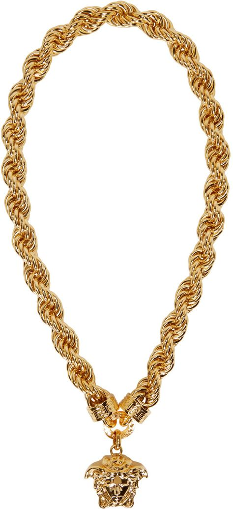 collier homme or versace