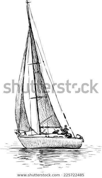 Trouvez Des Images De Stock De Sailing Yacht En Hd Et Des Millions D Autres Photos Illustrations Et Images V Dessin De Voilier Tatouage Voile Dessin De Bateau