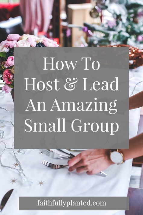 How To Lead More Authentic & Effective Small Groups - Faithfully Planted Small Group Bible Studies, Bible Study Group, Bible Study Tips, Teen Bible Studies, Christian Women's Ministry, Christian Life, Christian Movies, Christian Living, Starting A Bible Study