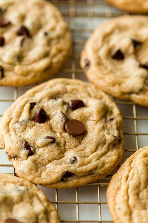 Everyone's favorite Chocolate Chip Cookies - soft, moist and loaded with chocolate. An easy, excellent chocolate chip cookie recipe - no chilling required!