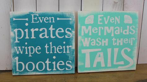 Even Mermaids wash their Tails sign/Even by WorldsSweetestSigns ...