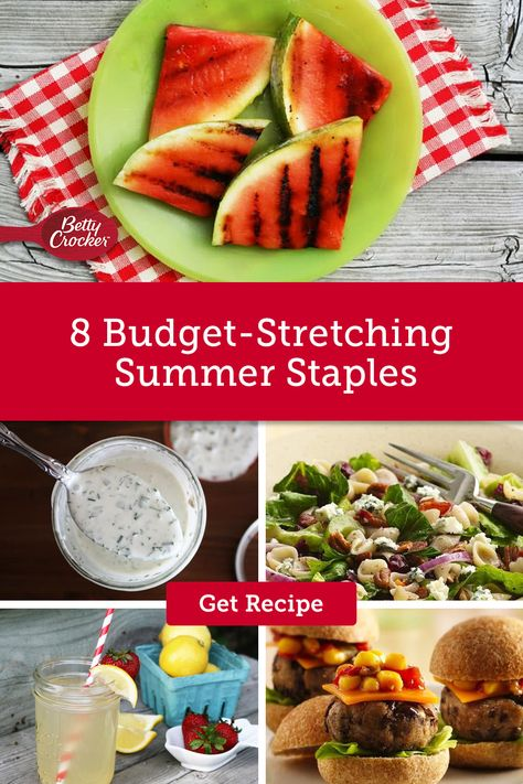 These budget-friendly meal ideas are delicious and provide stress-free meals all summer. Pin today for meals that fit your budget!