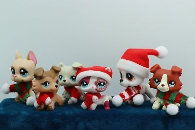 6 Lot Rare Littlest Pet Shop Lps Great Dane Dogs Collie Cat Collection Authentic Lps Collies Lps Pets Little Pet Shop