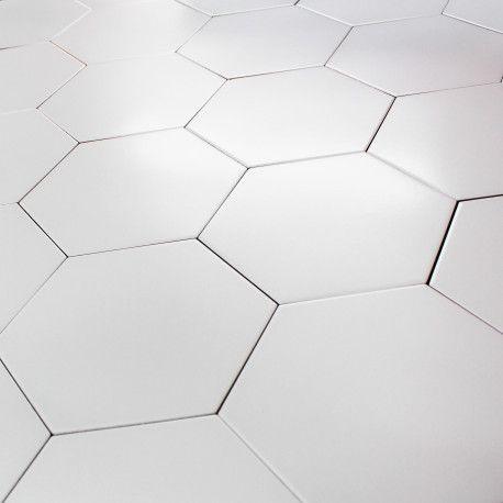 carrelage hexagonal blanc sol et mur