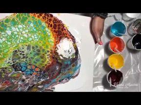 En Este Video Te Enseno A Hacer Un Cuadro Con La Tecnica De Acrilicos Fluidos A Todo Color Y C Pintura Vertida Como Hacer Pintura Acrilica Pinturas Abstractas