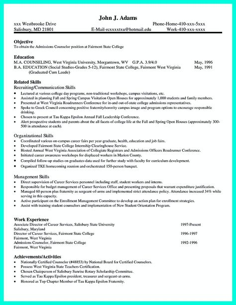 How to Write a College Admission Résumé - sample college application resumes