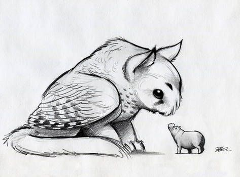 Owl Griffin And North American House Hippo By Robthedoodler Fox