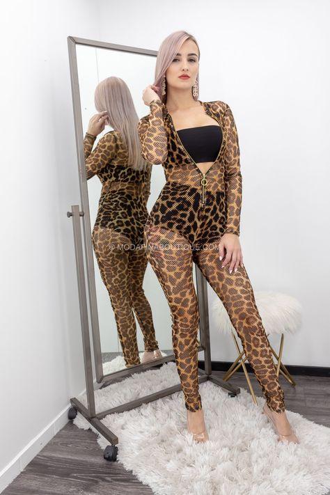 Biancaa Mash Front Zipper Jumpsuit