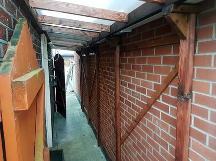 Ag Remodelling Projects Side Passage Roof And Motorbike Shelter Roof Beautiful Outdoor Furniture Lean To Roof