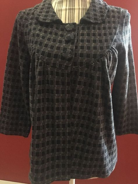 H&M Size Medium Women's Work Blazer Multi-color 3/4 Half Sleeves