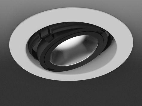 Direktlicht verstellbare Einbauleuchte aus Aluminium EYE by Martinelli Luce…