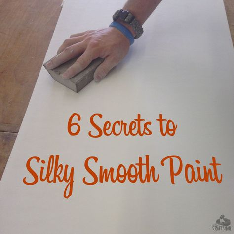 Some great tips for getting a smooth brush mark free finish on trim and woodwork.