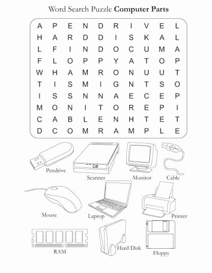 Computer Parts Worksheet For Kindergarten In 2020 Computer Basics Teaching Computers Computer Lab Lessons