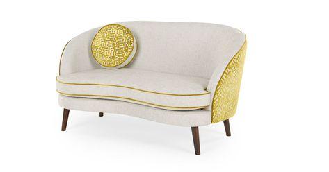 Gertie 2 Sitzer Sofa Samt In Kiwigrun Made Com Seater Sofa 2 Seater Sofa Cushions