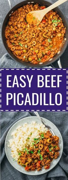 An easy beef picadillo stew recipe influenced by Cuban and Mexican cuisine.  #beef #healthy mexicano / cubano / puerto rican / pinoy / filipino / turkey  ...
