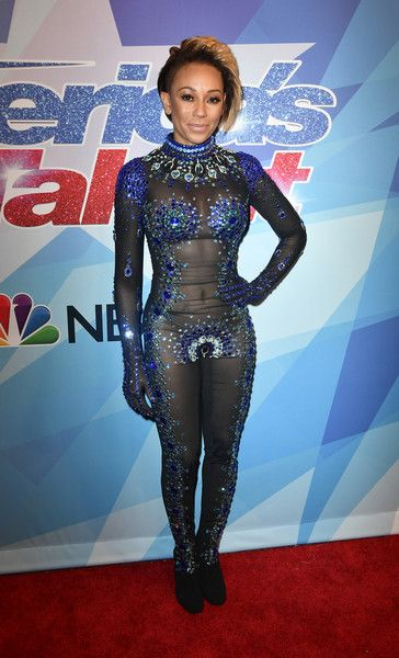 Mel B attends the premiere of NBC's 'America's Got Talent' Season 12.