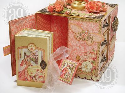 Rotating Princess Jewelry Box With Video For Sale Graphic 45 Crafts Handmade Books