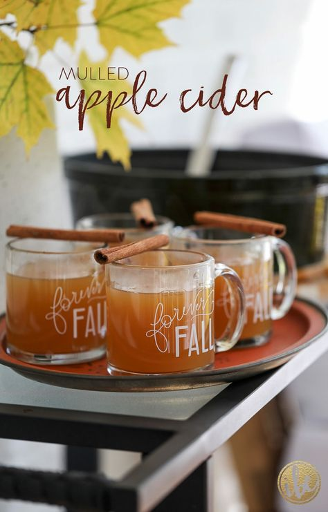 The BEST Hot Apple Cider / Mulled Apple Cider #mulled #hot #applecider #fall #cocktail #recipe