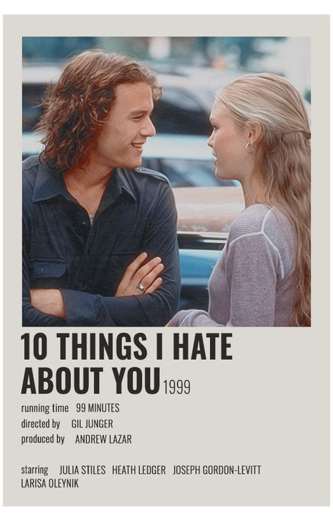 alternative movie posters 10 things i hate about you