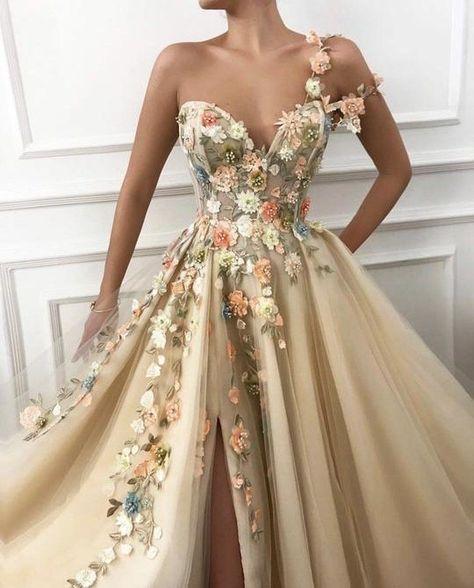 Formal Dresses Online, A Line Prom Dresses, Tulle Prom Dress, Prom Party Dresses, Ball Dresses, Graduation Dresses, Summer Dresses, Prom Dresses Flowers, Occasion Dresses