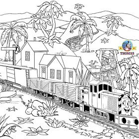 Thomas Tank The Train Coloring Steam Engine Pictures To Color Goruntuler Ile
