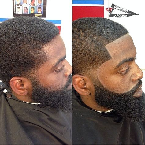 Fade hairstyles for men are the norm but when you come across a barber that really goes hard on the edge up and blending you get awesome results.