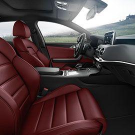 The 2018 Kia Stinger Gt Red Interior Cabin Kia Stinger Kia Red Interior Car
