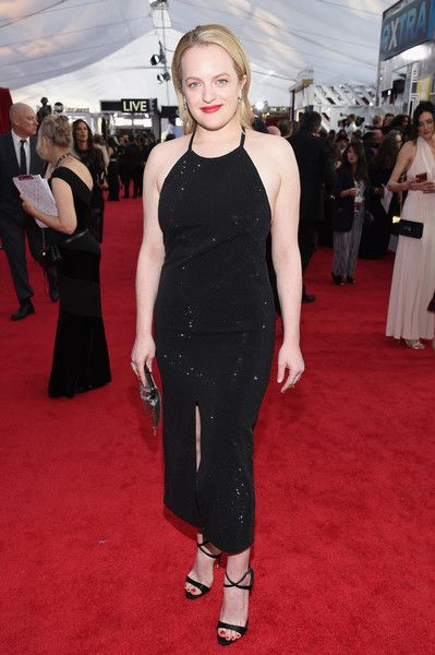 Actor Elisabeth Moss attends the 24th Annual Screen ActorsGuild Awards.