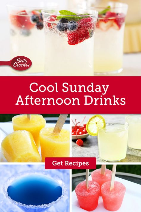 Whip up our Cool Sunday Afternoon Drinks for delicious summer cocktails. Pin now for your next adult get-together.