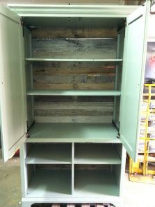 Diy pantry from tv armoire.I'd want to leave it as a tv armoire.