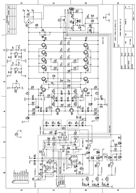 PEAVEY PV-1500 Service Manual download, schematics, eeprom, repair on